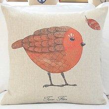 Preisvergleich Produktbild ZFSaleStore Lovely Red Bird Decorative Pillow Case 18 x 18 inch