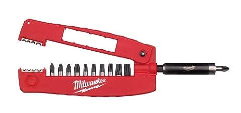 Milwaukee 4932352941 Shock Wave Lot de 12 embouts de vissage avec porte-embout