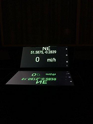 Portátil para Coche GPS HUD cabeza up display Reflector Espejo para teléfono móvil
