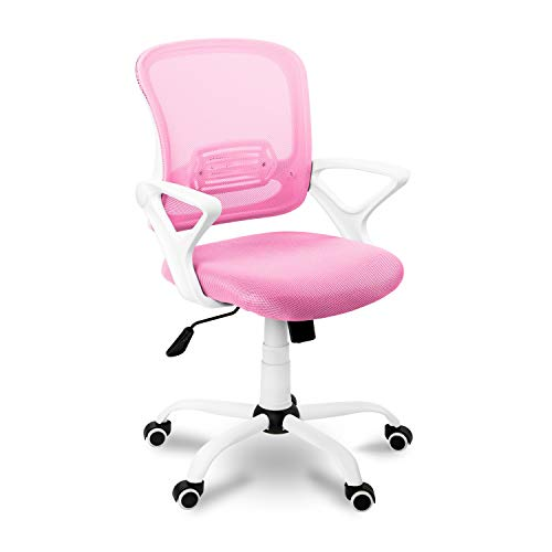 Adec - Brisa, Silla de Escritorio giratoria, Silla de Oficina, Silla despacho con Ruedas Color Rosa Claro,...