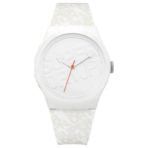 Superdry Herren Analog Quarz Uhr mit Silikon Armband SYG169W