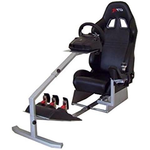 GTR Racing Simulator Touring Model Real Racing - Simulador de conducción, con asiento de carreras auténtico, cabina de mando y cambio de marchas montado