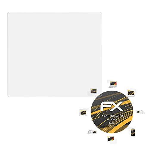 atFoliX Panzerfolie kompatibel mit Fitbit Ionic Schutzfolie, entspiegelnde & stoßdämpfende FX Folie (3X)