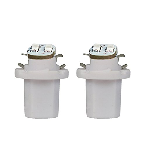 Akhan 852W - LED Ampoule Lampe voiture auto Blanc T5 B8.5D BAX10D 12V tachymètre instrument d'éclairage