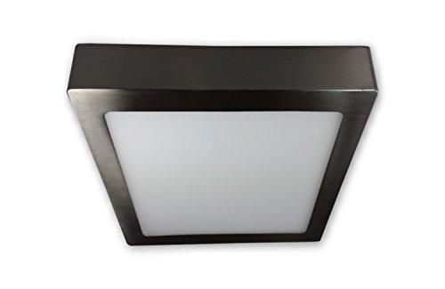 18 W - LED Aufbauleuchte Panel Lampe eckig 230 V - alu gebürstet
