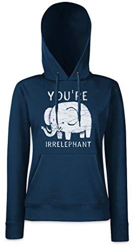 You'Re Irrelephant Hoodie Sudadera con Capucha para Mujer