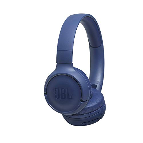 JBL Tune500BT On-Ear Bluetooth-Kopfhörer in Blau (Faltbarer, kabelloser Ohrhörer mit integriertem Headset - Musik Streaming bis zu 16 Stunden mit nur einer Akku-Ladung)
