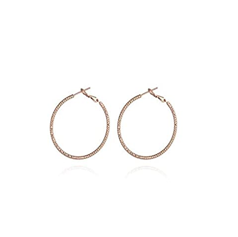 XZX Women's Fashion 18K Gold Plated Circle Drop Earrings