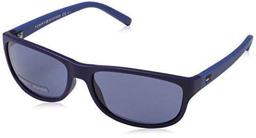 TOMMY HILFIGER JR Sonnenbrille  blau (Matte Blue Blue Jeans), 54 mm