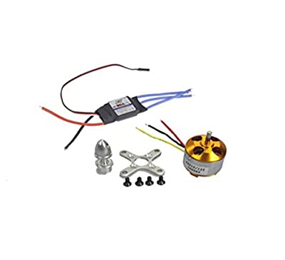 BGNing Contrôleur A2212 1000kv Brushless Outrunner Motor Speed 13t + 30a ESC, Drone Rc Aircraft Kk 4 essieux Copter UFO