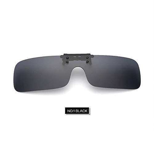 GJYANJING Sonnenbrille Männer Clip Auf Sonnenbrillen Polarisierte Damenmode Flip Up Myopie Brillenlinse Nachtfahrten Vision Männlichen Blendschutz Brillen