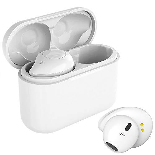 Ecouteur Bluetooth sans Fil, Willful Oreillette Bluetooth 5.0 Écouteurs Sport Intra Auriculaire avec Micro Appel Musique Stéréo HiFi TWS Ecouteurs Commande Vocale Longue Autonomie pour Smartphone PC