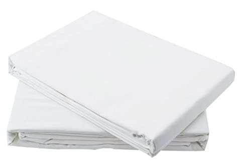 Egyptian Cotton Fitted Sheet 200TC White (King Size)