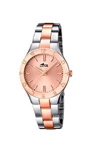 Lotus 0 - Reloj de cuarzo para mujer, con correa de acero inoxidable, color plateado de Lotus