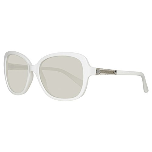 Guess Damen GU7455-5821C Sonnenbrille, Weiß (White), 58