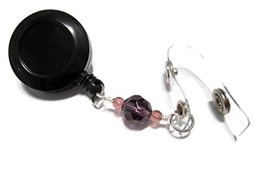 atlanyards perfekt violett Perlen Retractable Badge Holder Pull, Arbeit ID LANYARD Rollen, Perlen 94