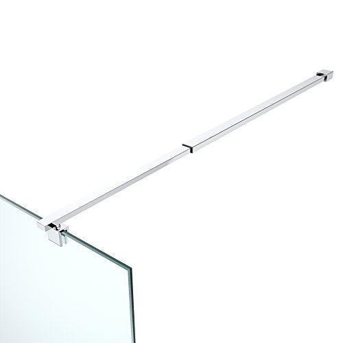 Haltestange für Duschwände Halterung Edelstahl Stabilisator Dusche Duschabtrennung Rechteckig Verstellung 700-1200 mm Glasstärken 6-10 mm GS23