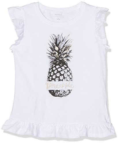 NAME IT Mädchen NKFZELINA SS TOP SUN T-Shirt, Weiß (Bright White), 158 (Herstellergröße: 158-164)