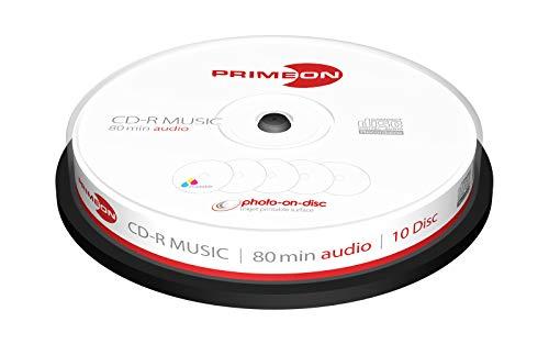 Lot de 10 CD Primeon Vierges, Blancs, 700Mo, 120mm, 80Min, 52X
