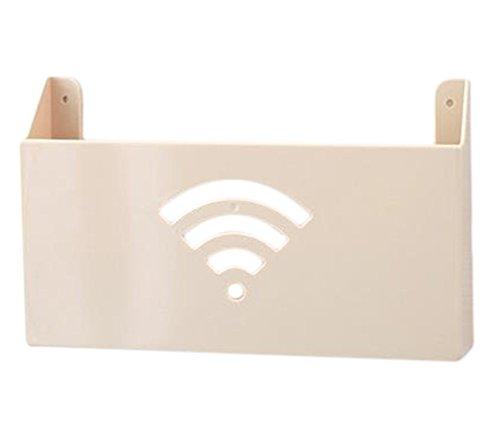 Hosaire 1x Router WLAN Aufbewahrungsbox Kreative Wand Montiert WLAN Router Storagebox Multifunktions...
