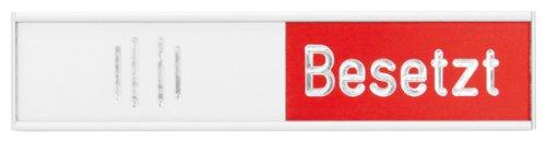 Franken BS0117 Manuelle Besetztanzeige Deutsch, 102 x 27,4 mm, rot/grün -