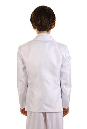 Jungen Anzug Hochzeit weiss 5 teiliger Kommunionanzug Weiß