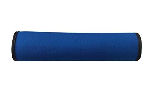 Auto Gurtschutz Sicherheitsgurt Schulterpolster Schulterkissen Autositze Gurtpolster für Kinder und Erwachsene (Blau/Schwarz) - von HECKBO