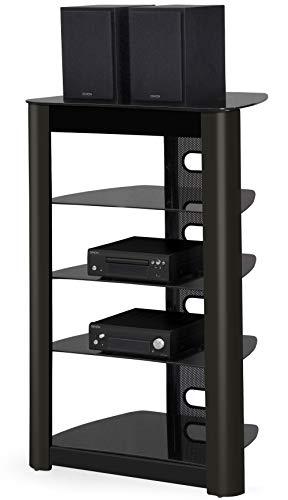 MDA Designs Zinnia Regal mit 5 Ebenen, glänzend, Schwarz