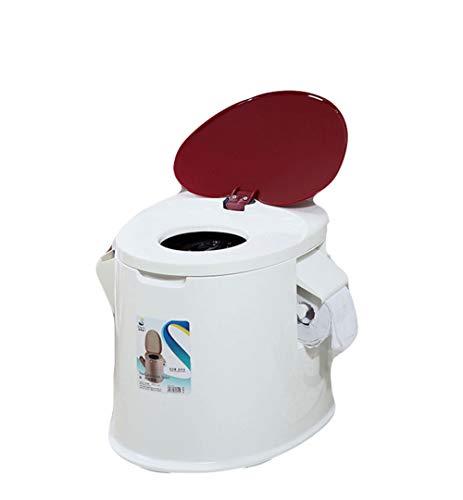 Kitrack Toilette Portatile Mobile Antiscivolo Ispessimento Per Uomo Anziano Adulto Donne In Gravidanza Di Plastica,white