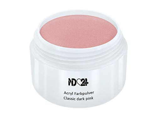Acryl Farbpulver Classic dark pink ROSA - nd24 BESTSELLER - Feinstes FARB Acryl-Puder Acryl-Pulver Acryl-Powder - STUDIO QUALITÄT - Rosa Acryl Pulver