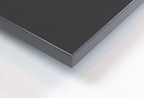 MySpiegel.de Tischplatte Holz Zuschnitt nach Maß Beschichtete Holzdekorplatte (120 x 60 cm, Grau)