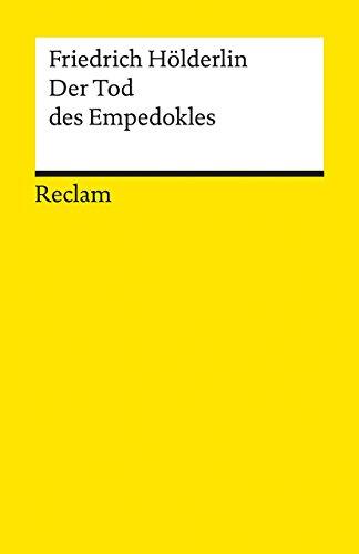Der Tod des Empedokles (Reclams Universal-Bibliothek)