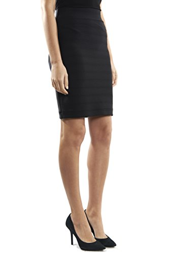 Joseph Ribkoff Fitted Black Bandage Pencil Skirt Style 32330