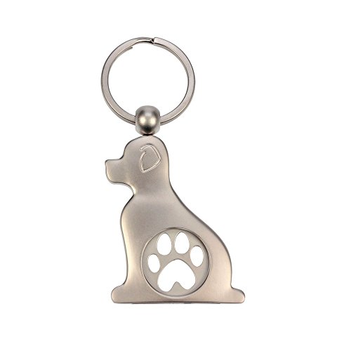 Schlüsselanhänger als Chiphalter mit Chip für Einkaufswagen verschiedene Tiere, Auswahl:Hund mit Tatze