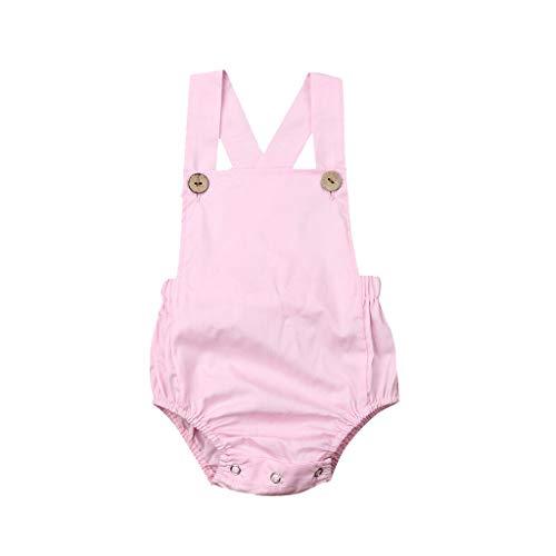 Myfilma ◔◡◔(3 Monate - 3 Jahre Sommer Kleinkind Baby Kinder Mädchen Jungen Sleeveless Solid Stripe Romper Sunsuit Kleidung -