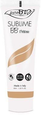 PUROBIO - BB Cream - Couverture moyenne, Texture légère - Couleur 03 - Vegan, Certifié Bio, Nickel Tested, Fabrique in Italie