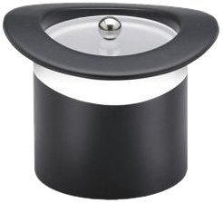 Kraftware Top Hats Black with White 3-Quart Top Hat Ice Bucket with Band and Lucite Cover by Kraftware -