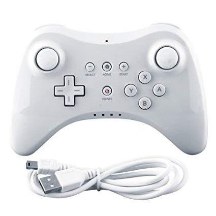 CaaWoo Wii U PRO Controller, Nero Dual Controller Wireless analogico per Wii U PRO