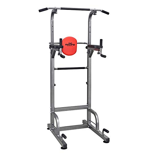 RELIFE REBUILD YOUR LIFE Power Tower Workout Dip Station per la Palestra di casa Allenamento della Forza Attrezzatura per Il Fitness