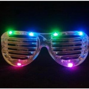 SHUTTER SHADE STYLE PARTY SUNGLASSES (multiple settings: slow flash,
