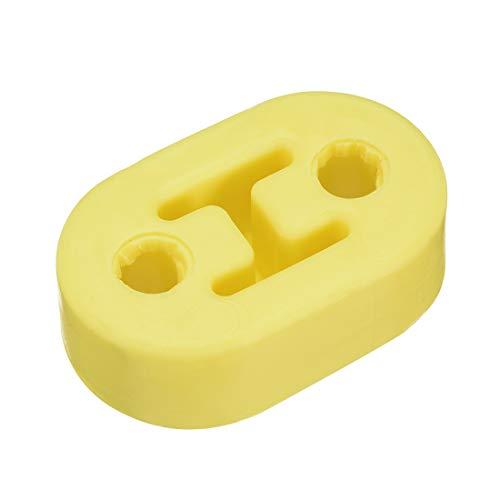 sourcing map 1Stk. Doppelloch verstärkt Schalldämpfer Auspuff Aufhänger Buchse Gelb Silikagel DE de (Ford Ranger Auspuff)