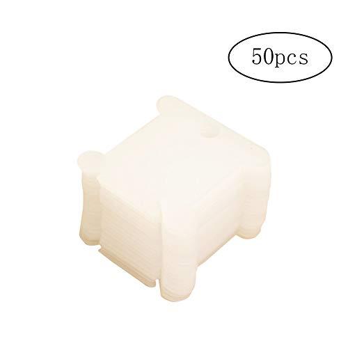 Isuper 50 Piezas de plástico de Las bobinas de Hilo Dental Tarjeta...