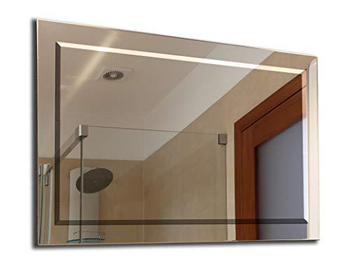 Ramix 80 x 60 cm, Wandspiegel, Geschliffener und Facettenspiegel, Facetten-Spiegel
