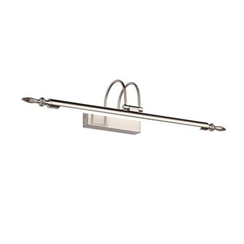 2511 Licht (Badezimmer Lichter Spiegel Frontleuchte LED Retro Kupfer Badezimmerspiegel Licht Badezimmer Wasserdichte Spiegel Kabinett Beleuchtung Deckenleuchte (Farbe : Weißes Licht-76cm))