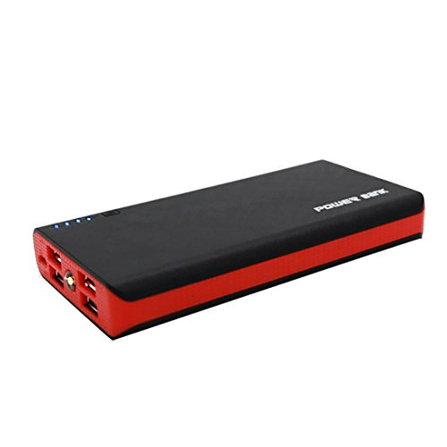 A 4 USB-Energien-Bank-Kasten 6x18650 Batterieladegerät DIY Kasten-Kasten-Installationssatz für Telefon (Rot) ()