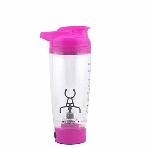 lzn 500ml Elektrisch Blender Bottle, Batteriebetrieb Protein shaker Vortex Mixer Cup Batterie betrieben für Kaffee Protein Shakes Milch