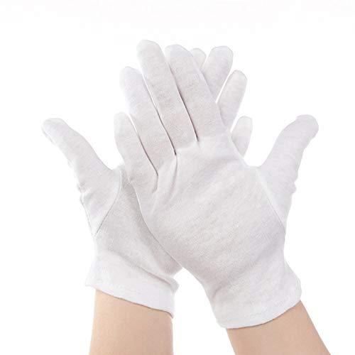 Matthew00Felix Weißen Baumwollhandschuhe Anti-Statik-Handschuhe Schutzhandschuh fr Hausarbeit Arbeiter
