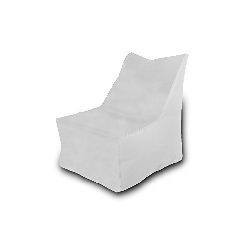 Pufmania Bean Bag Beanbag Chair Polyester Waterproof 75x 75cm (White)
