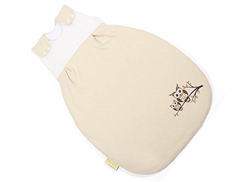 BABYSCHLAFSACK, größenverstellbar, (ÖKO-TEX zertifiziert) Eule, Geschenk zur Geburt, für neugeborenes Mädchen und Jungen, 62/68 - kb-kol-3002