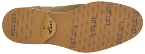 Lottusse T2039, Brogues Homme Beige (Camoscio Legno)